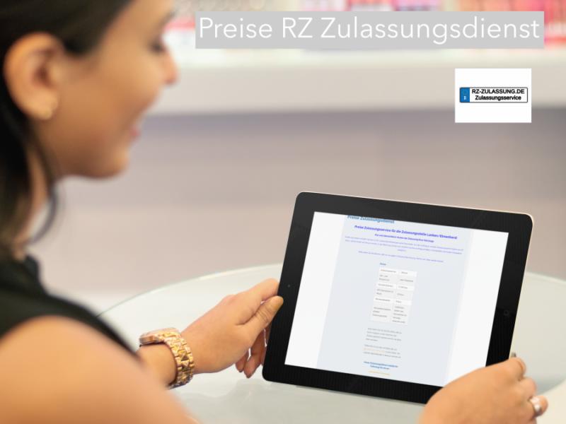 Preise RZ Zulassungsdienst